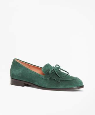 Brooks Brothers Suede Kiltie Loafers
