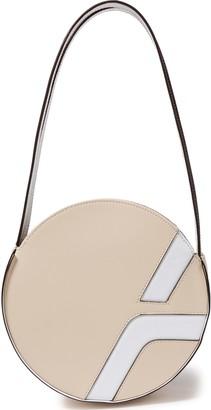 Atelier Manu Laser-cut Two-tone Leather Shoulder Bag