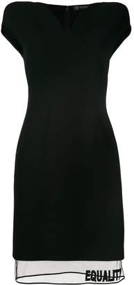 Versace Equality V-neck fitted dress