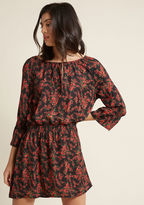 BB Dakota Crafty Afternoon Floral Mini Dress in L - Long A-line by from ModCloth