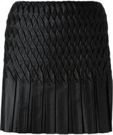 Jay Ahr wavy pleated mini skirt