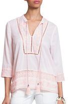Plenty by Tracy Reese Embroidered Cotton Tunic