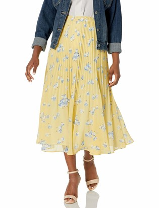 Chaps Women's Petite Long Pleated Skirt
