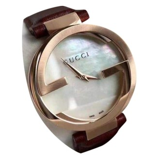 Gucci Interlocking Gold Steel Watches