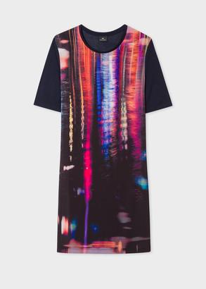 Paul Smith Women's Navy 'Puddle Reflection' Print Jersey Dress
