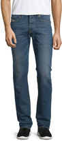 Diesel Buster Faded Straight-Leg Jeans, Blue