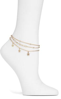 Ettika Star Charm Anklet
