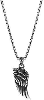 John Hardy Sterling Silver Legends Eagle Large Wing Pendant Necklace, 24
