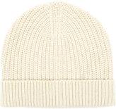 Reiss Reiss Milton - Ribbed Beanie Hat In White