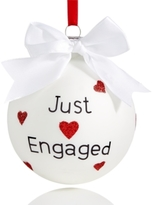 "Holiday Lane White Glass ""Just Engaged"" 2017 Ball Ornament, Created for Macy's"