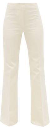 Joseph Tavi Flared-cuff Cotton-blend Sateen Trousers - Cream