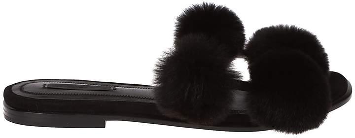 Alexander Wang Powder Puff Flat Sandals