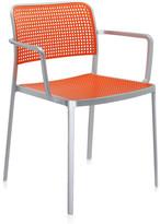 Kartell Audrey Shiny Armchair - Aluminium/Orange