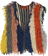 Missoni Cropped Fringed Metallic Stretch-knit Vest - Orange