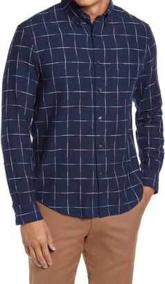 Club Monaco Slim Fit Windowpane Twill Button-Down Shirt