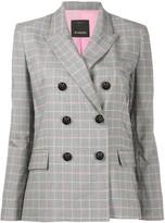Pinko check print blazer