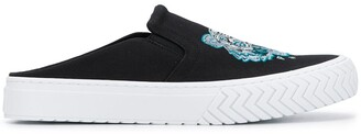 Kenzo Tiger Embroidery Slip-On Sneakers