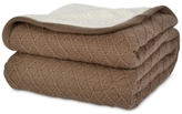 Berkshire Reversible Diamond-Knit to Sherpa Fleece Twin Blanket