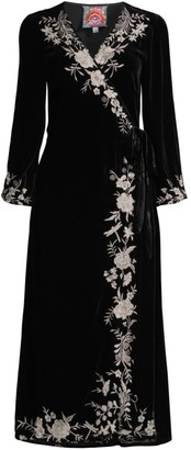 Johnny Was Erith Velvet Kimono Wrap Dress