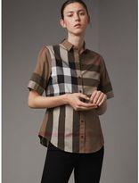 Burberry Short-sleeved Check Cotton Shirt