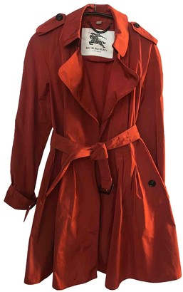 Burberry Red Polyester Trench coats