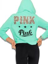 Victoria's Secret PINK Perfect Zip Hoodie Aqua