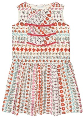 Gucci Kids Floral cotton dress
