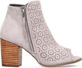 Miss KG Sasha faux-suede peep toe ankle boots