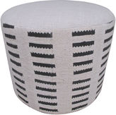 One Kings Lane Vintage African & French Linen Ottoman