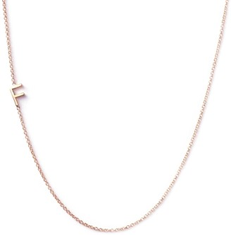 Maya Brenner Asymmetrical Letter Necklace - F