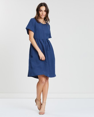 Privilege Gathered Waist Dress