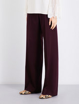 Stella McCartney Wide high-rise wool trousers