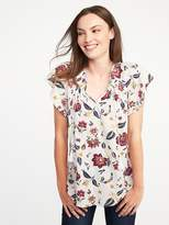 Old Navy Flutter-Sleeve Swing Top for Women