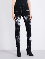 Unravel Patchwork skinny high-rise jeans