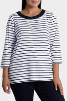 Essential Duo Stripe 3/4 Sleeve Tee
