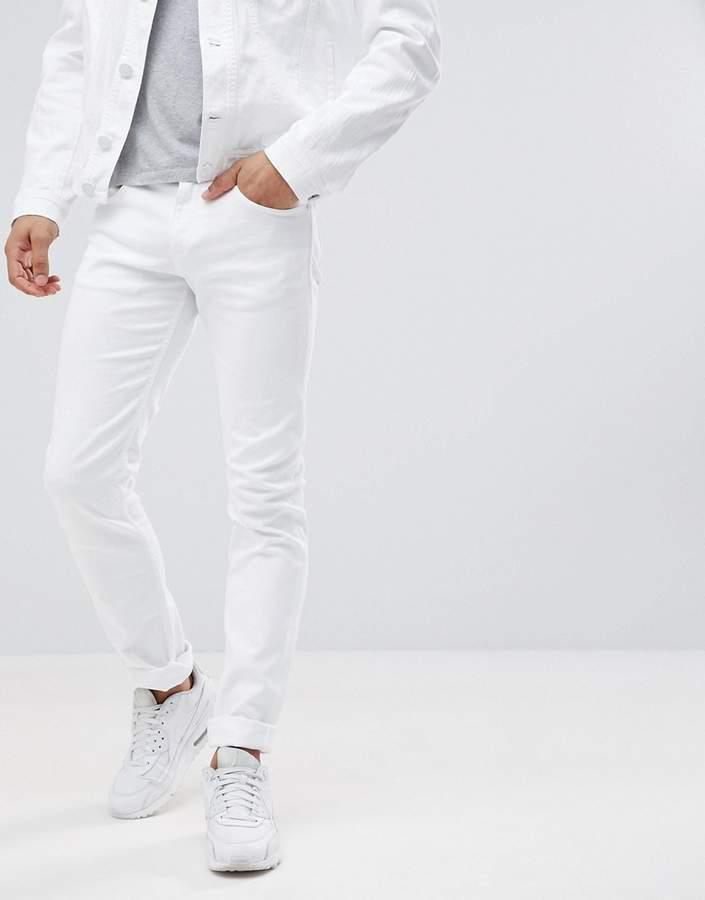 Versace Super Skinny Jeans In White