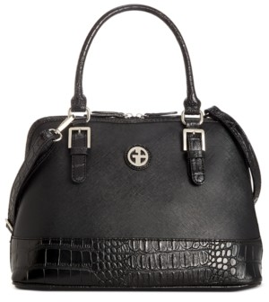 Giani Bernini Saffiano Croco Dome Satchel, Created for Macy's