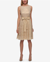 Tommy Hilfiger Lace Tie-Front Fit & Flare Dress