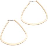 Kenneth Jay Lane Triangular Hoop Earrings