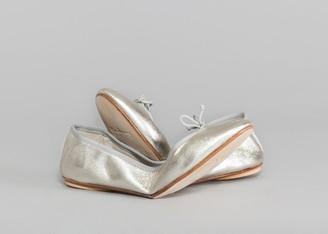 Bagllerina - Silver Gorgeous Ballerina Foldable Shoes - 36   leather   silver - Silver/Silver