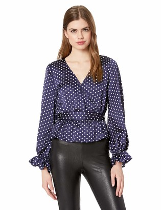 Finders Keepers findersKEEPERS Women's Whisper Long Puff Sleeve WRAP TOP