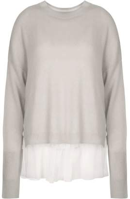 In.No Grey Opera Tulle Layered Sweater