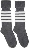 Thom Browne Grey Mid-Calf Four Bar Socks