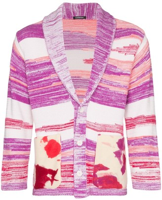 Canessa Sciamanic intarsia-knit cardigan