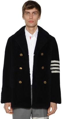 Thom Browne Unconstructed Shearling Fur Coat W/4 Bar