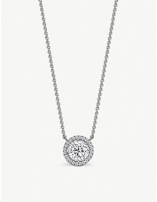Vashi Halo 18kt white-gold and 0.70ct diamond pendant necklace