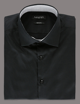 Autograph Supima® Cotton Tailored Fit Shirt With Stay Dark Technology