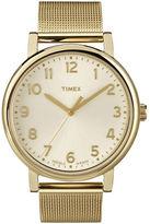 Timex Originals Gold-Tone Stainless Steel Mesh Bracelet Watch
