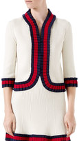 Gucci Knit Wool Cardigan, Ivory