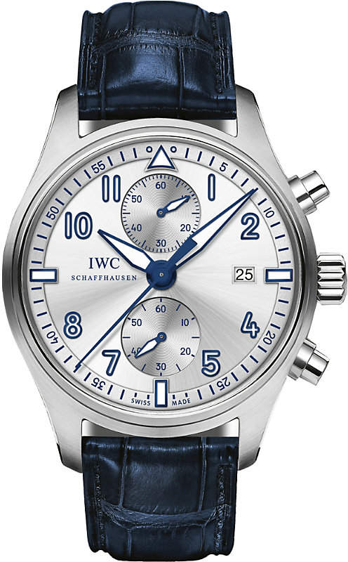 IWC IW387812 Pilot's alligator-leather watch